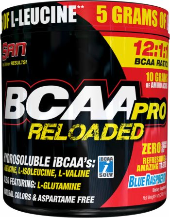 Image of S.A.N. BCAA Pro Reloaded Powder 456 Grams Blue Raspberry