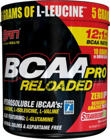 Image of S.A.N. BCAA Pro Reloaded Powder 456 Grams Strawberry Kiwi