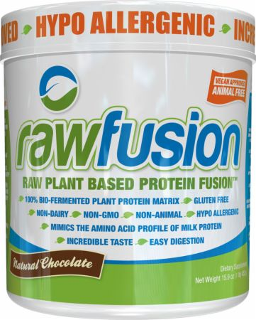 Image of rawfusion Natural Chocolate 1 Lb. - Plant Protein S.A.N.