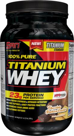S.A.N. 100% Pure Titanium Whey Chocolate Graham Cracker 2 Lbs. - Protein Powder