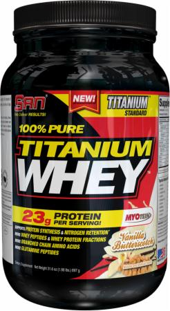 S.A.N. 100% Pure Titanium Whey Vanilla Butterscotch 2 Lbs. - Protein Powder