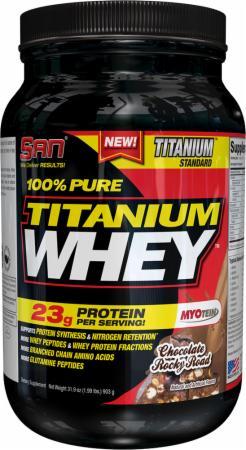 S.A.N. 100% Pure Titanium Whey Chocolate Rocky Road 2 Lbs. - Protein Powder