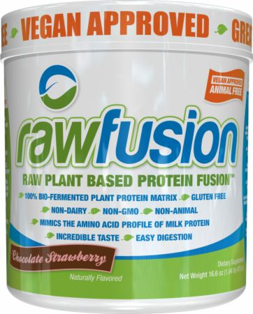 Image of rawfusion Chocolate Strawberry 1 Lb. - Plant Protein S.A.N.