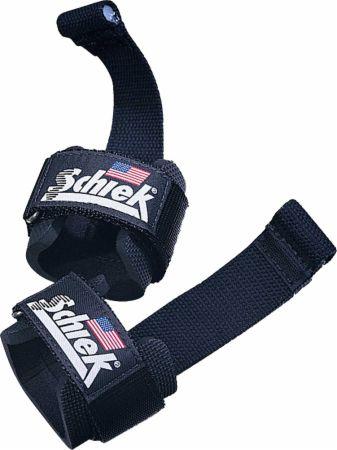 Image of Dowel Lifting Straps Black - Weight Lifting Straps Schiek
