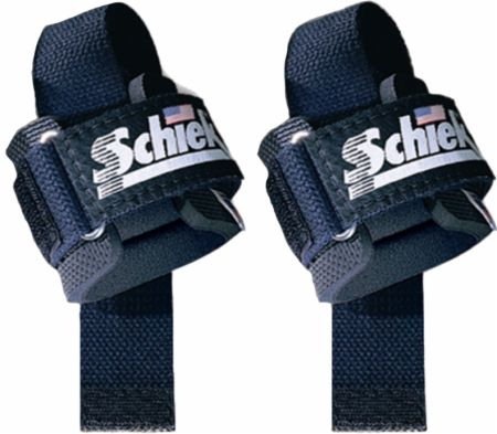 Image of Padded Lifting Straps Black - Weight Lifting Straps Schiek