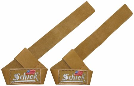 Image of Leather Lifting Straps Brown 21 Inches - Weight Lifting Straps Schiek