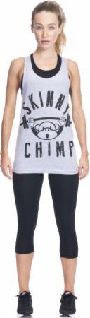 Image of Skinny Chimp Classic Skinny Chimp Gym Vest Large Grey