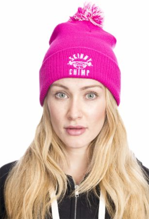 Image of Skinny Chimp Chunky Bobble Beanie One Size Pink