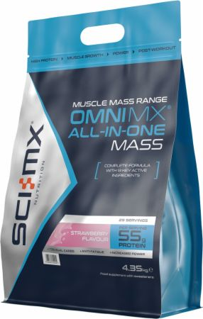 Image of Omni MX All-In-One Mass Strawberry 4.35 Kilograms - All-In-One Muscle Builders SCI-MX Nutrition