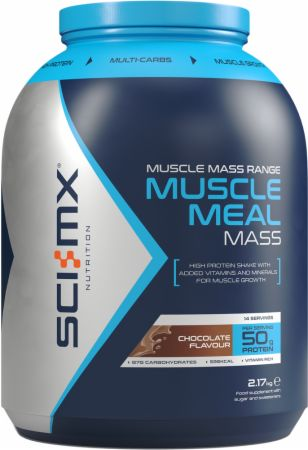 Image of Muscle Meal Mass Chocolate 2.17 Kilograms - Protein Powder SCI-MX Nutrition