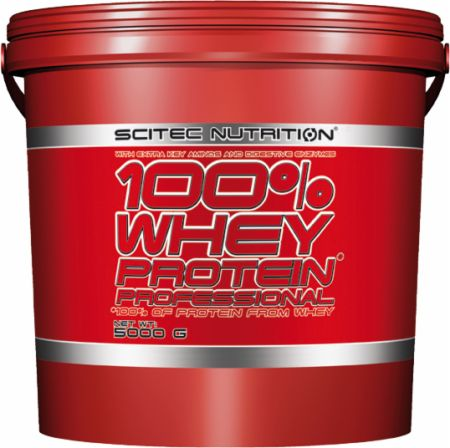 Image of Scitec Nutrition 100% Whey Protein Professional 5000 Grams Vanilla Very Berry