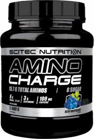Image of Scitec Nutrition Amino Charge 600 Grams Blue Raspberry