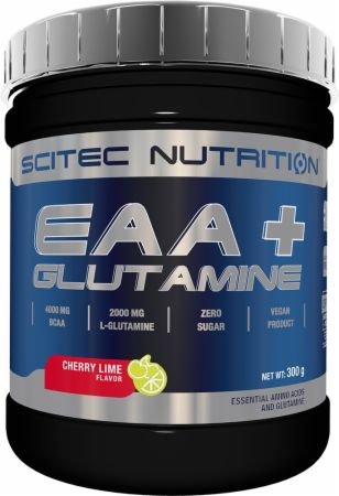 Image of EAA+Glutamine Cherry Lime 300 Grams - Amino Acids & BCAAs Scitec Nutrition