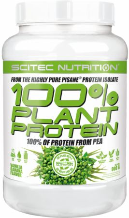 Image of 100% Plant Protein Vanilla Banana 900 Grams - Protein Powder Scitec Nutrition
