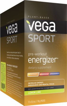 Vega Sport Pre-Workout Energizer Lemon Lime 12 Packets - Pre-Workout Supplements