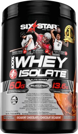 Six Star Pro Nutrition Whey Isolate Decadent Chocolate 1.5 Lbs. - Protein Powder