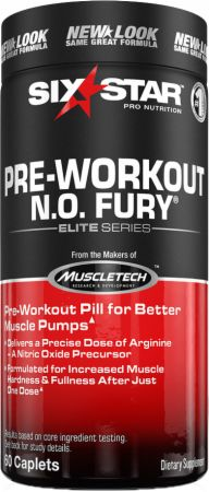 Six Star Pro Nutrition N.O. Fury Caplets 60 Caplets - Pre-Workout Supplements