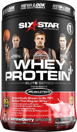Image of Whey Protein Plus Strawberry Cream Smoothie 2 Lbs. - Protein Powder Six Star Pro Nutrition
