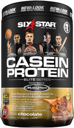 Image of Casein Protein Triple Chocolate 2 Lbs. - Protein Powder Six Star Pro Nutrition