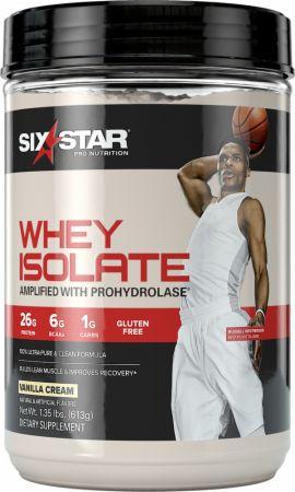 Image of Whey Isolate Vanilla Cream 1.4 Lbs. - Protein Powder Six Star Pro Nutrition