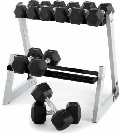 200 Lb. Dumbbell Kit w/Rack