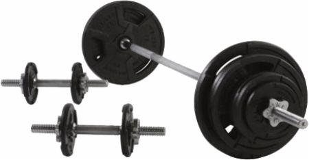 160 lb Spin Lock Weight Set