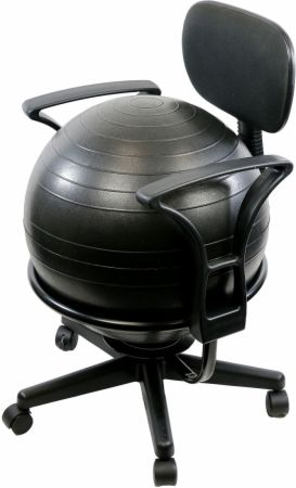 Metal Mobile Ball Chair With Ball