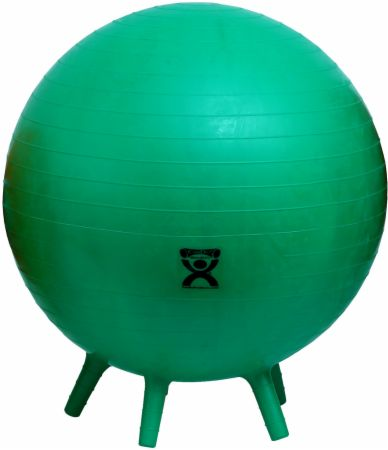 Inflatable Exercise Ball with Stability Feet