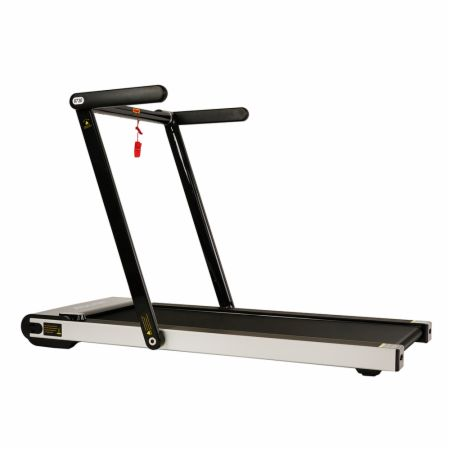 Asuna Slim Folding Motorized Treadmill Gray  - Treadmills Sunny Health & Fitness Sunny Health & Fitness Asuna Slim Folding Motorized Treadmill Gray   - 4 window displays to track distance, calories, time & speed, foldable deck with wheels for ease of storage