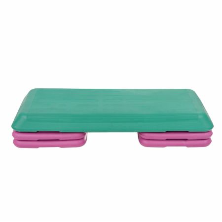 "Deluxe Aerobic Stepping Platform Cyan / Purple  - Workout Equipment Sunny Health & Fitness Sunny Health & Fitness Deluxe Aerobic Stepping Platform Cyan / Purple   - Wide platform with height options of 4"", 6"" or 8"", Durable non-slip stepping surface with a 200 Lb. capacity"