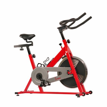 Indoor Cycling Bike Red  - Cardio Equipment Sunny Health & Fitness Sunny Health & Fitness Indoor Cycling Bike Red   - Heavy-duty crank & frame for durability, fully adjustable seat and bars with a 30 Lb. flywheel