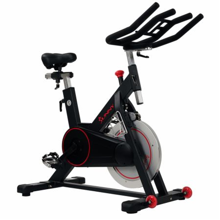 Magnetic Indoor Cycling Bike Black  - Cardio Equipment Sunny Health & Fitness Sunny Health & Fitness Magnetic Indoor Cycling Bike Black   - 44 Lb. flywheel with adjustable magnetic resistance for a smooth ride,  heavy duty steel frame and fully adjustable frame & bars