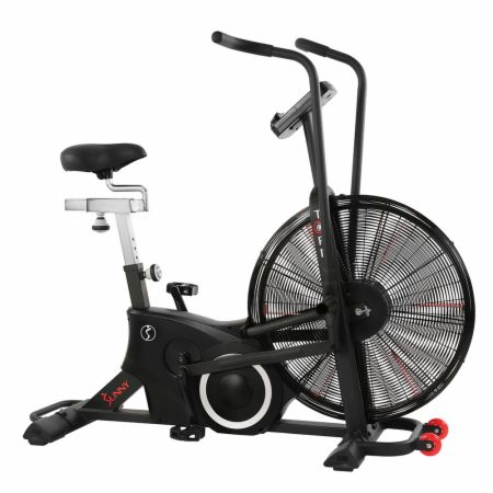 "Tornado LX Air Bike Black  - Cardio Equipment Sunny Health & Fitness Sunny Health & Fitness Tornado LX Air Bike Black   - 25"" fan wheel offers progressive resistance, has a digital performance monitor with tablet holder to track your workouts"