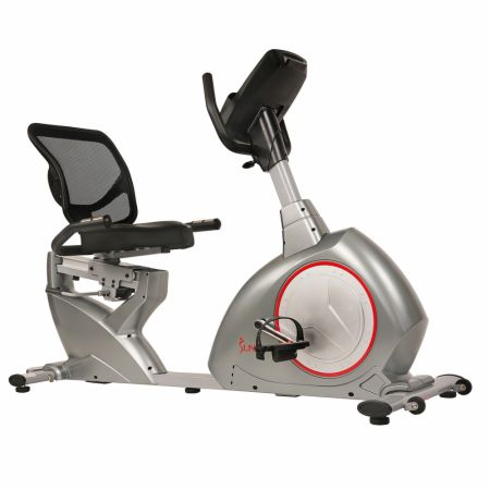 Powersync Self-Powered Recumbent Bike Gray  - Cardio Equipment Sunny Health & Fitness Sunny Health & Fitness Powersync Self-Powered Recumbent Bike Gray   - No messy cords or batteries required, large comfortable seat, digital monitor with 12 pre-set workouts