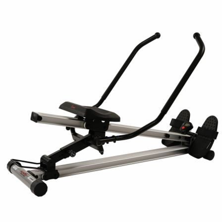Incline Slide Rower Gray  - Rowing Machines Sunny Health & Fitness Sunny Health & Fitness Incline Slide Rower Gray   - Digital monitor, 5 levels of incline to engage both your lower and upper body, has wheels for easy transport