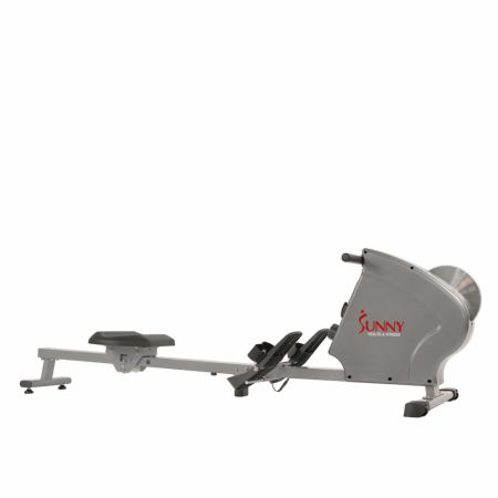 Flywheel Rowing Machine Gray  - Rowing Machines Sunny Health & Fitness Sunny Health & Fitness Flywheel Rowing Machine Gray   - 8 levels of magnetic resistance to challenge you & a digital screen to monitor your progress, has wheels to make transport and storage easy