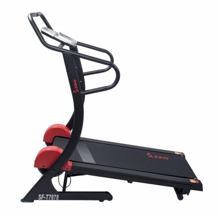 Magnetic Training Treadmill Black  - Treadmills Sunny Health & Fitness Sunny Health & Fitness Magnetic Training Treadmill Black   - 16 levels of resistance & 3 incline options, onboard performance monitor & heart rate sensor, equipped with the soft drop system