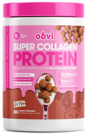Image of Super Collagen Protein Cocoa Cereal 30 Servings - Joint Support Obvi