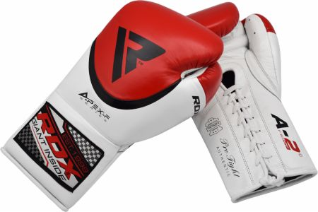 A2 Pro Fight Lace Up Leather Boxing Gloves