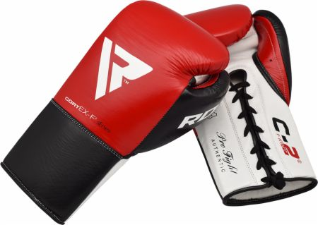 C2 Pro Fight Lace Up Leather Boxing Gloves