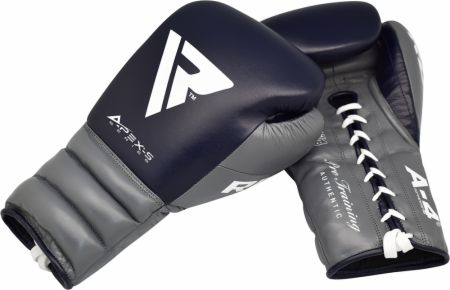 A4 Professional Lace Up Leather Sparring Boxing Gloves