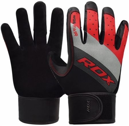 F41 Full-Finger Gym Gloves With Long Wrist Strap