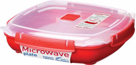 Large Microwave Food Container with Steam Rack