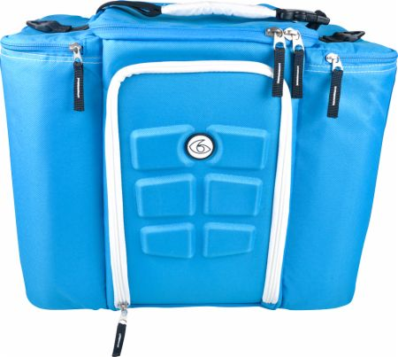 Image of 6 Pack Fitness Innovator 6 Pack Bag 5 Meal - Large Blue/White - Exclusive!