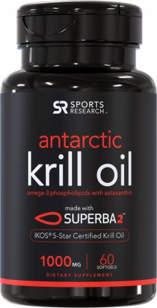 Image of Antarctic Krill Oil 60 Softgels - Fish Oil Omega-3 Sports Research