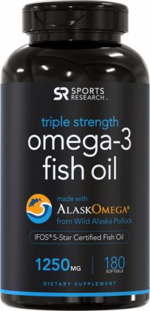 Image of Triple Strength Omega-3 Fish Oil 180 Softgels - Fish Oil Omega-3 Sports Research