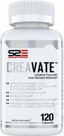 Supreme Sports Enhancements CreaVate 120 Capsules - Creatine