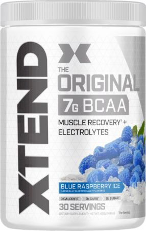 Image of Xtend Original BCAA Blue Raspberry Ice 30 Servings - During Workout Xtend