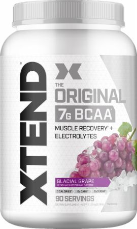 Image of Xtend Original BCAA Glacial Grape 90 Servings - During Workout Xtend