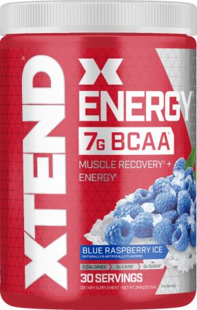 Image of XTEND Energy Blue Raspberry Ice 30 Servings - Amino Acids & BCAAs Xtend